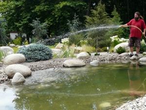 Градинско езеро - озеленяване